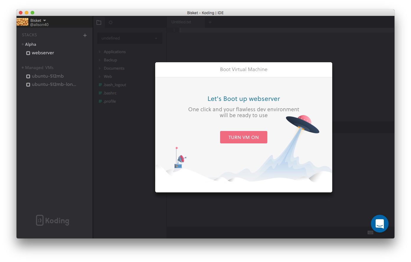 Koding OS X App