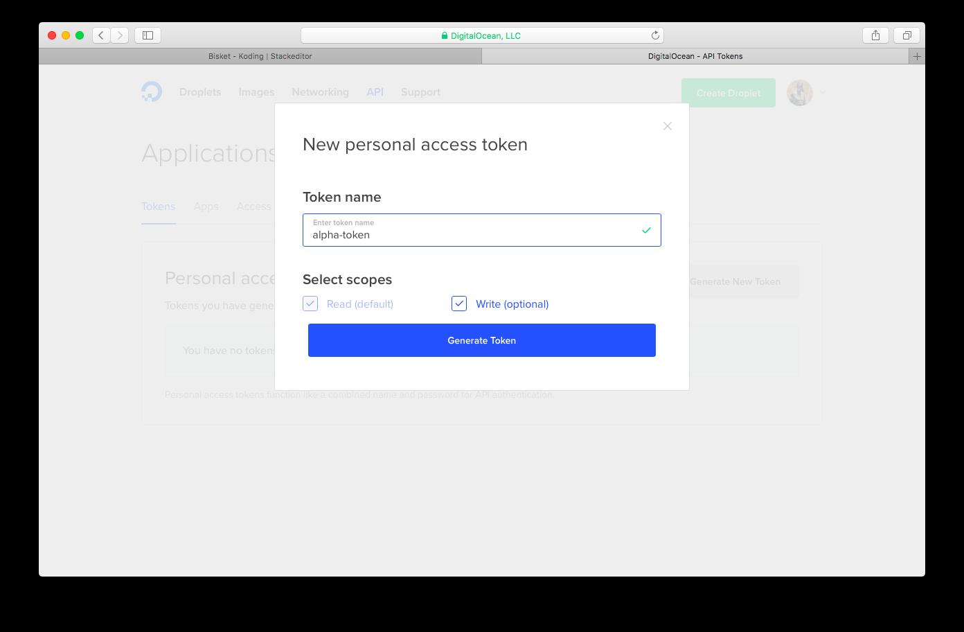 DO access token title