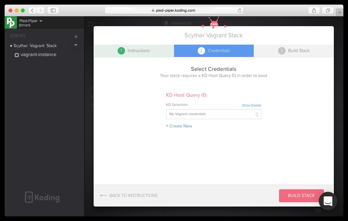 Build Stack Credentials